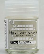 MR HOBBY Crystal Color Gunze LACQUER XC07 Turquoise Green MODEL PAINT 18ml US