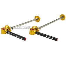 TOKEN TK2342 MTB Titanium Carbon QR Skewers , Gold