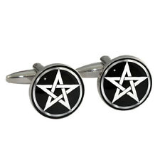 Pentacle Wiccan Design Cufflinks witchcraft pagan symbol magic pentagram BNIB