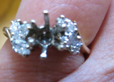 New Old Stock 14kt Engagement Ring Mounting 6 Marquise Diamonds .37 carats