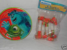 New Monsters Inc Dessert Plates And Blowouts Party Supplies