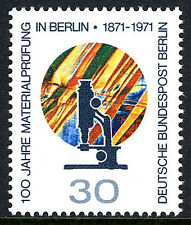 Germany-Berlin 9N326, MNH. Microscope and Metal Slide.Materials Testing Lab.1971
