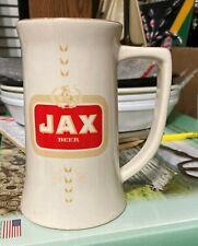 """Jax Beer~Vintage 1950""""s *Racetrack* Logo Ceramic Mug w/Gold Leafing"""