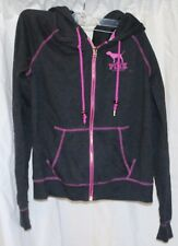 Victoria's Secret Love Pink Limited Edition Charcoal Hoodie Sweatshirt Women's M