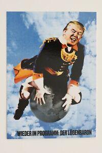 "KLAUS STAECK: ""DONALD TRUMP, the Liar-Baron""  Art-Postcard  NEW"