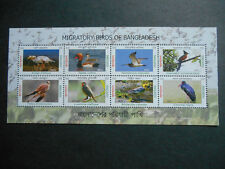 Bangladesh 2013 Migratory Birds MS MNH Kestrel, Rubythroat, Black Stork, Wagtail