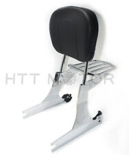 Sissybar Respaldo Portaequipajes Desmontable para Harley Dyna 02-05 Cromo