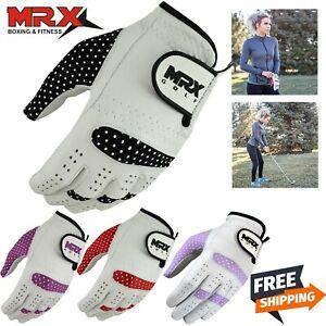 MRX Gloves Womens Relax Grip Golf Glove Worn on Left Hand Cadet Cabretta Leather