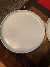 VINTAGE RUSSEL WRIGHT IDEAL 1950's CHILDREN'S TOY ICE BLUE PLATES SET OF 2