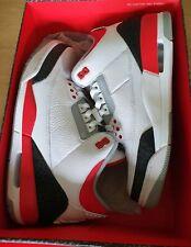 Air Jordan 3 Retro Fire Red 2013 White Black Size 9 UK 136064-120