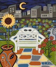 Jacqueline tócalo-The Secret Garden a4 presión n. pinturas imágenes banco de jardín flor
