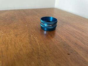 VOLK SUPER FIELD SUPERFIELD NC LENS BF07213 USED CONDITION BLUE DIOPTRE OPTICAL