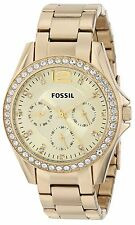 Fossil Women's ES3203 Riley Chronograph Gold-Tone Stainless Steel Bracelet Watch