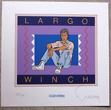 FRANCQ - LARGO WINCH - Ex-libris Sérigraphié