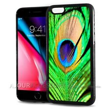 ( For iPhone 7 ) Back Case Cover AJ10066 Peacock Feather
