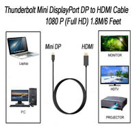 Thunderbolt Mini DisplayPort DP to HDMI Cable For Macbook Pro Air iMAC 1080P