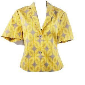 Coldwater Creek Womens Blazer Jacket Cotton Button Up Coat Size 4/6 Career