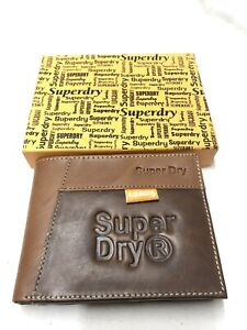 Mens Brown SuperDry Leather Wallet Nw