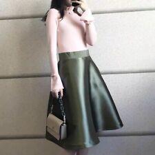 AUTH Ted Baker Zadi Frill neck full skirt dress Khaki, 0-5