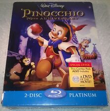 Disney Pinocchio (2009, Canada) 70th Anniversary Futureshop Steelbook NEW