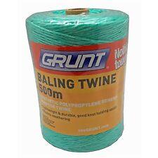 Grunt BALING TWINE 500m, Polypropylene, Resists Weathering GREEN *Aust Brand