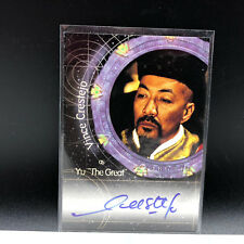 STARGATE AUTOGRAPH CARD SG-1 signed auto A7 Yu The Great Vince Crestejo insert