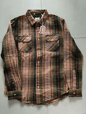 NWT LVC Levi's Vintage Clothing Shorthorn Green Check Flannel Shirt Size M
