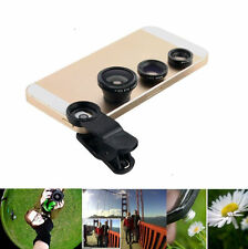 3 in 1 Fish Eye+Wide Angle+Macro Lens Fisheye Clip For Android Phone Universal