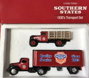 SOUTHERN STATES Limited Edition 1930's TRANSPORT SET 1/43 DIE-CAST ~ Ertl