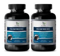 pills for men - UNLEASH YOUR WOLF - maca herbal secrets - 2 Bottles (120 Caps)