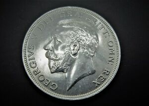 GEORGE V SILVER HALFCROWN  NEAR UNCIRCULATED 1931  / SNIFF'S  ANCIENT COINS T-7