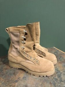 BELLEVILLE 790G WATERPROOF MILITARY BEIGE COMBAT BOOTS WORN ONCE NEEDS LACES 4W