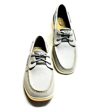 Sperry Top-Sider Bluefish Metallic Mesh Gray Women 10 41 Boat Shoes Leather NEW
