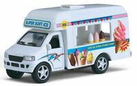 Kids Ice Cream Truck Metal Diecast Pull Back Drives Action Childrens Fun Car Toy