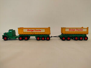 Matchbox Lesney K -16 Kingsize Dodge Tractor Twin Tipper And Trailer