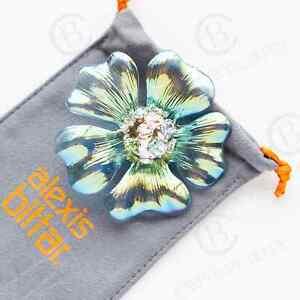 Alexis Bittar Sputnik Flower Crystal Pin Brooch