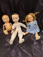 Vintage Creepy Doll Lot Halloween Decor Prop Spooky Set Of 3