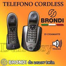 TELEFONO CORDLESS DUO Id chiamante (chi é) 10 memorie VIVAVOCE BRONDI 2anni Gar.