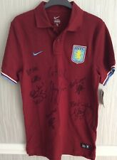 Aston Villa 2011/12 Multi-Signed Shirt - Shay Given + Others - Brand New Shirt