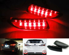 Black Smoked Lens LED For 11-13 Corolla CT200h Bumper Reflector Brake Tail Light