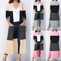 AU Fashion Cardigan Women Long Sleeve Loose Knitted Sweater Jumper Outwear Coat