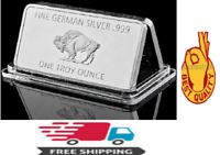 Bull Fine German 999 Mint 1 Troy Ounce Buffalo European Metal Bar Silver-coated