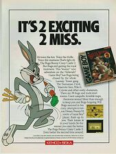 Vtg. 1990 Nintendo Game Boy BUGS BUNNY CRAZY CASTLE 2  video game print ad page