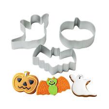 Halloween Ghost Pumpkin Bats Cross Sugar Cookies Cutter Cake Decorating new.