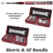 Sidchrome 10pce Metric Stubby Geared Wrench Set - SCMT22203N