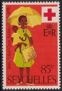 Seychelles 1970 QE2 85ct Red Cross MM SG 286 ( 373 )