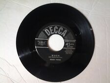 """Kalin Twins 45 rpm """"When"""" DECCA 9-30642"""