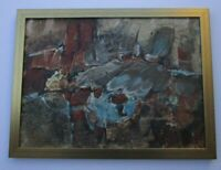FINEST ENDRE DARVIS ABSTRACT PAINTING NON OBJECTIVE EXPRESSIONISM VINTAGE 1970