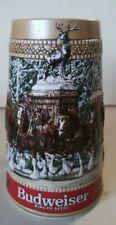 "1987 Budweiser ""C"" series Christmas Clydesdales Holiday Collector Beer Stein Mug"