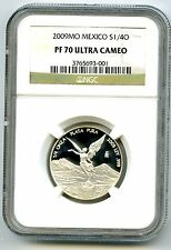 2009 MEXICO 1/4OZ ONZA SILVER PROOF LIBERTAD NGC PF70 UCAM EXTREMELY RARE POP=1